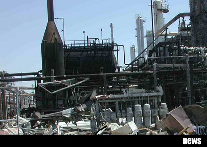 The aftermath of the BP Texas city refinery explosion in 2005 that killed 15 workers