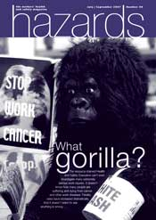 What gorilla? HAzards cover artwork issue 99