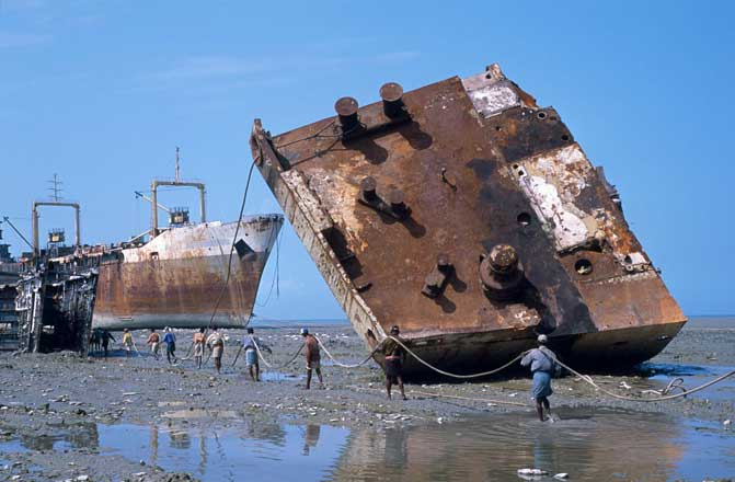 Shipbreaking - a recycling industry thats green and deadly.
